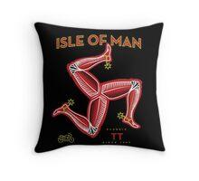 Isle of Man classic motorcycle races UK Throw Pillow