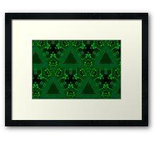 Geometric Green Framed Print