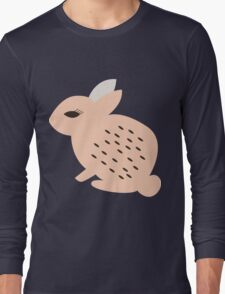 Rabbits and flowers 008 Long Sleeve T-Shirt