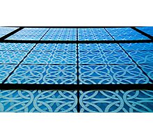 Blue Lines Photographic Print