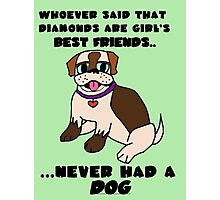 DOGS - BEST FRIENDS Photographic Print