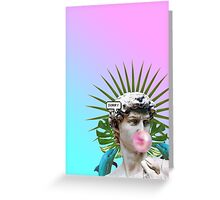 Vaporwave Seapunk Cool Style 3D Greeting Card
