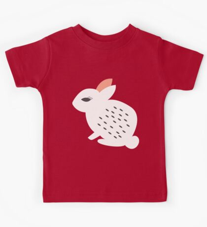 Rabbits and flowers 007 Kids Tee