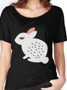 Rabbits and flowers 007 Women's Relaxed Fit T-Shirt