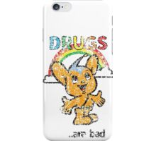 Pipo-Kun - Drugs Are Bad - Distressed iPhone Case/Skin