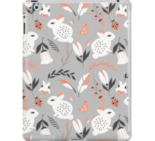 Rabbits and flowers 007 iPad Case/Skin