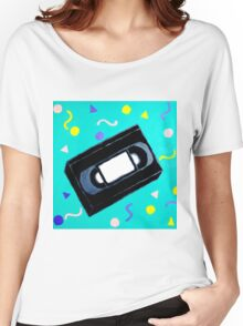 Movie Nights VHS Clothes and Poster Women's Relaxed Fit T-Shirt