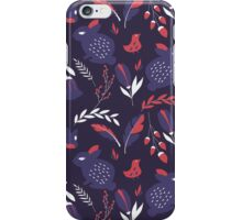 Rabbits and flowers 004 iPhone Case/Skin