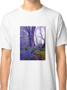 Bluebells in the Forest Rain Classic T-Shirt