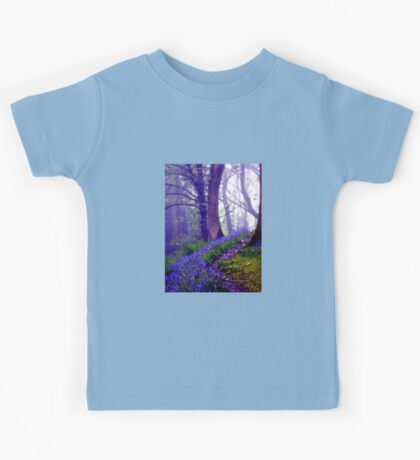 Bluebells in the Forest Rain Kids Tee