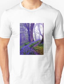 Bluebells in the Forest Rain Unisex T-Shirt