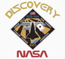 STS-124 Discovery Mission Logo Kids Tee
