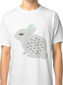 Rabbits and flowers 002 Classic T-Shirt