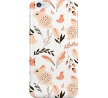 Rabbits and flowers 001 iPhone Case/Skin