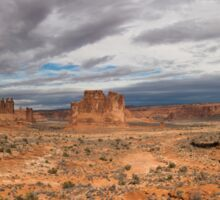 Three Gossips And Courthouse Towers Panorama - Arches National Park - Moab Utah Sticker