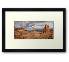 Three Gossips And Courthouse Towers Panorama - Arches National Park - Moab Utah Framed Print