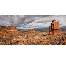Three Gossips And Courthouse Towers Panorama - Arches National Park - Moab Utah Photographic Print