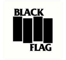 black flag logo Art Print
