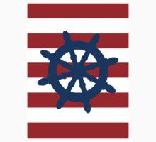 Nautical Wheel Kids Tee