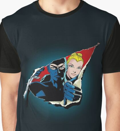 Diabolik and Eva Kant in the cut Graphic T-Shirt