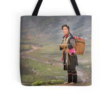 Vietnamese woman in landscape Tote Bag