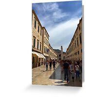 Downtown Dubrovnik - Croatia Greeting Card