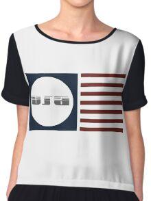 USA Flag Chiffon Top