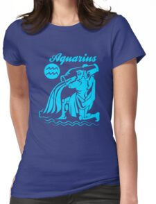 Funny Aquarius Zodiac Womens Fitted T-Shirt