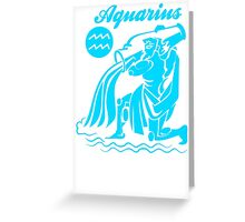 Funny Aquarius Zodiac Greeting Card