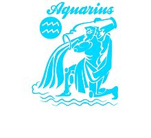 Funny Aquarius Zodiac Photographic Print