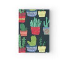 Dark Mysterious Cactus Pattern Hardcover Journal