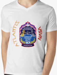 STS-117 Atlantis Mission Logo Mens V-Neck T-Shirt