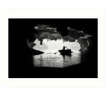 Rowing into the Cave Art Print