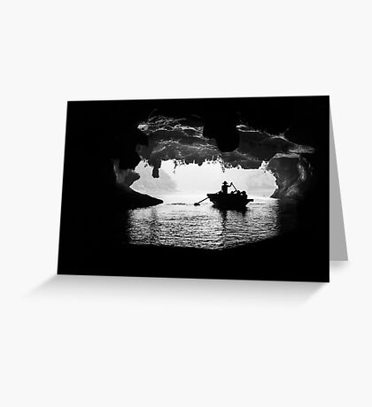 Rowing into the Cave Greeting Card