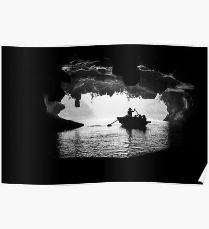 Rowing into the Cave Poster