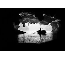 Rowing into the Cave Photographic Print