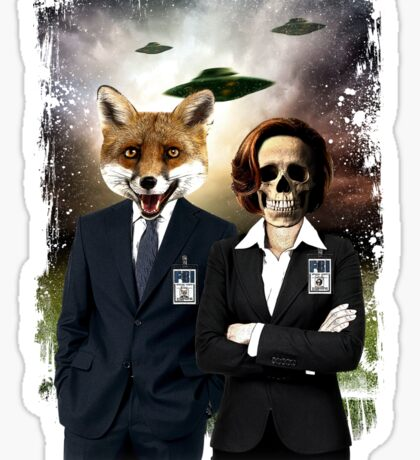 Fox and Skully Sticker