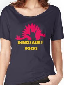 Dinosaurs Rock Women's Relaxed Fit T-Shirt