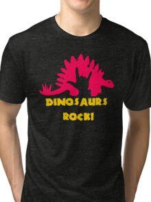Dinosaurs Rock Tri-blend T-Shirt