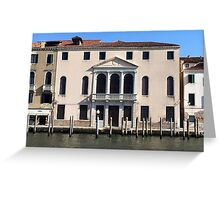 Hotel on Venice Canal Greeting Card