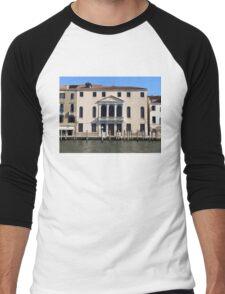 Hotel on Venice Canal Men's Baseball ¾ T-Shirt