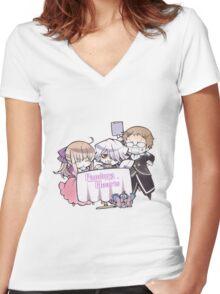Chibi Sharon, Break & Reim (Pandora Hearts) Women's Fitted V-Neck T-Shirt
