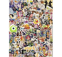 Disney Collage Design Photographic Print