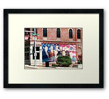Presidential Mural/ Sterling, IL (usa) Framed Print