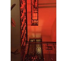 Red staircase Photographic Print