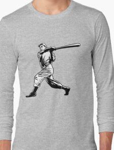Baseball player hitting Long Sleeve T-Shirt