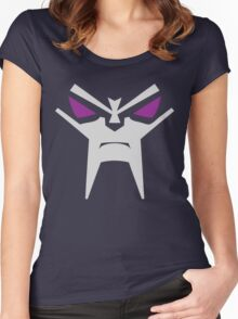 Evil Robot Face Women's Fitted Scoop T-Shirt