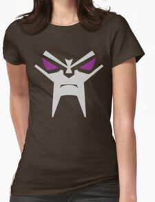 Evil Robot Face Womens Fitted T-Shirt