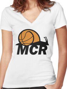 WBMCR Logo Women's Fitted V-Neck T-Shirt