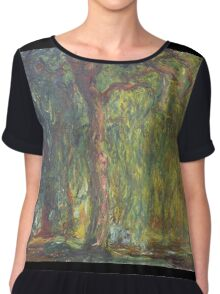 Claude Monet - Weeping Willow , Impressionism) Chiffon Top